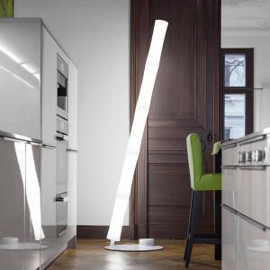 Lumen Center - Takè Plus - Také Plus Oval 05 BT PT - LED-Bodenlampe mit fünf Elemente mit Lichtintensität Dimmer - Weiß matt - LS-LC-TAK11V5106