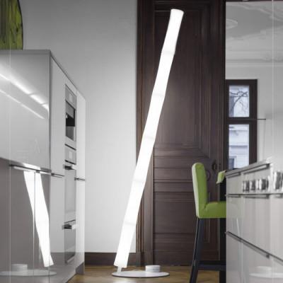 Lumen Center - Takè Plus - Také Plus Oval 06 BT PT - LED-Bodenlampe mit sechs Elemente mit Lichtintensität Dimmer - Weiß matt - LS-LC-TAK11V6106