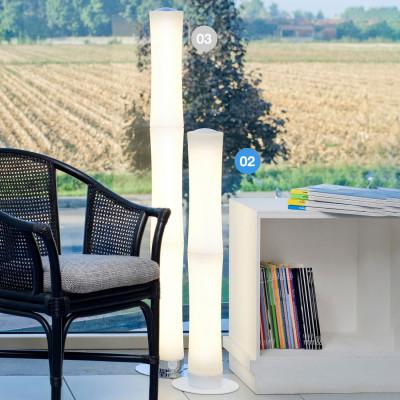 Lumen Center - Takè Plus - Také Plus Touch 02 PT - Boden- oder Tischleuchte mit LED-lampen und zwei Elemente - Weiß matt - LS-LC-TAK02106
