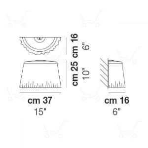 Vistosi - Cloth - Cloth AP L - Wandlampe