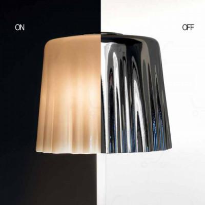 Vistosi - Cloth - Cloth AP L - Wandlampe - Weiß/Naturfarben/Chrom - LS-VI-APCLOTHGCMCR