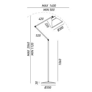 Altri Brand - Il Fanale - Loft - Loft PT - Industrial floor lamp