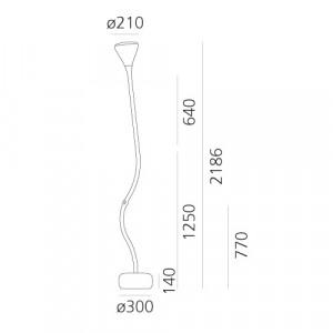 Artemide - Conical Collection - Pipe PT LED - Floor light modern