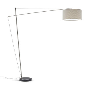 Artempo - Morfeo - Bridge PT R - Floor lamp with fabric shade