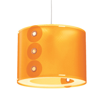 Artempo - Pendant lamps in Polilux - Rotho SP - Colored pendant lamp - Polilux Orange - LS-AT-070-A