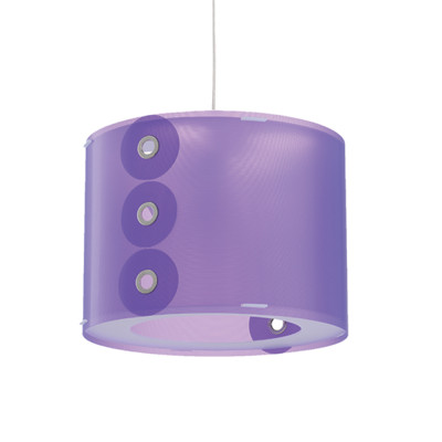 Artempo - Pendant lamps in Polilux - Rotho SP - Colored pendant lamp - Polilux Violet - LS-AT-070-VIO