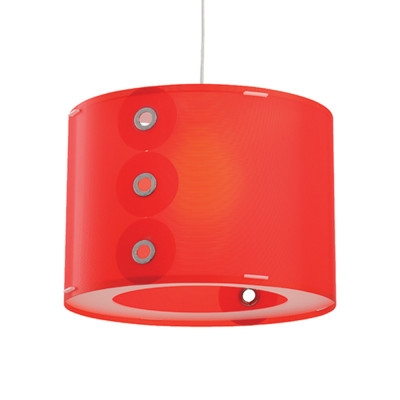 Artempo - Pendant lamps in Polilux - Rotho SP - Colored pendant lamp - Red - LS-AT-070-R