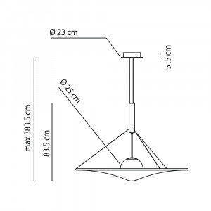Axo Light - Cloudy&Manto - Man 120 SP LED - Medium design chandelier