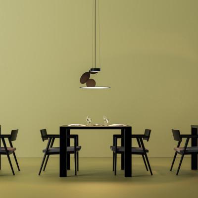 Axo Light -  - Cut SP LED - Design chandelier - Black - LS-AX-SPCUTXXXNEXXLED - Warm white - 3000 K - 60°