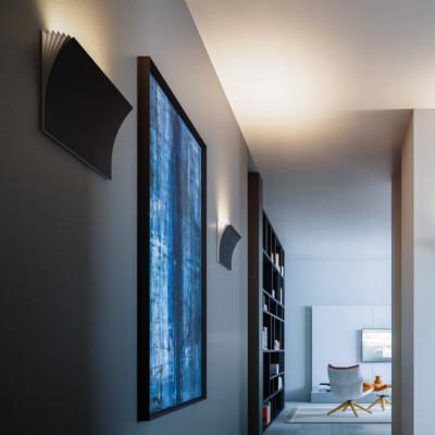 Axo Light -  - Polia AP L LED - Design wall light - Anthracite - LS-AX-APPOLIAGGRXXLED - Warm white - 3000 K - Diffused