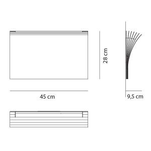 Axo Light -  - Polia AP L LED - Design wall light