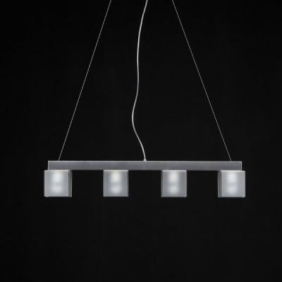 Emporium - Didodado - Didodado barra 1 - Pendant lamp - Satin white - LS-EM-CL447-12