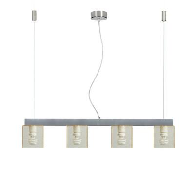 Emporium - Didodado - Didodado barra 1 - Pendant lamp - Texture Gold - LS-EM-CL412-58