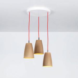 Emporium - Grog - Grog SP 3 round - Three lights pendant lamp