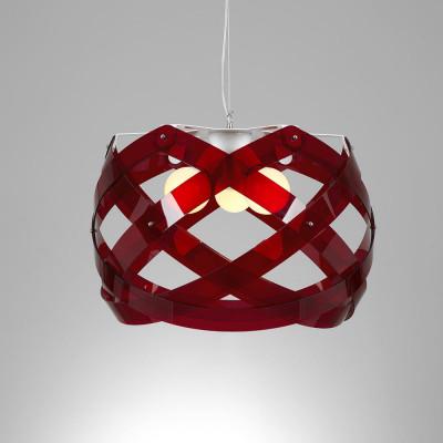 Emporium - Nuclea - Nuclea maxi - Pendant lamp - Red - LS-EM-CL129-51