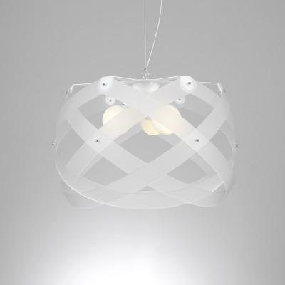 Emporium - Nuclea - Nuclea maxi - Pendant lamp - Satin white - LS-EM-CL129-12