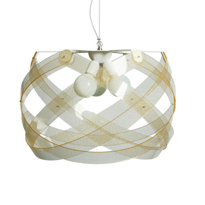 Emporium - Nuclea - Nuclea maxi - Pendant lamp - Texture Gold - LS-EM-CL132-58