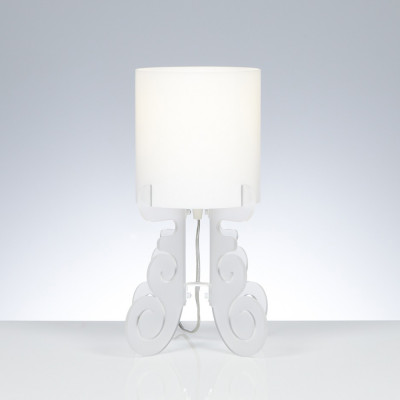 Emporium - Truciolo - Truciolo S - Table lamp - Satin white - LS-EM-CL189-12