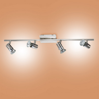 Fabas Luce - Alice - Alice FA 4x - Ceiling light with four spotlight directable - Satin-finished nickel - LS-FL-2554-80-178