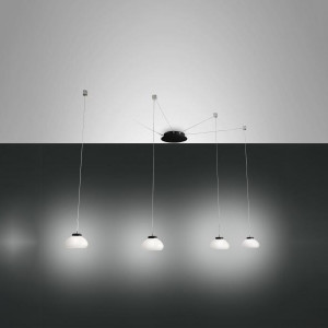Fabas Luce - Arms - Arabella SP D4 LED - Bloe glass chandelier