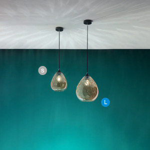 Fabas Luce - Fabas News 2019 - Gisela SP L - Bloe glass chandelier