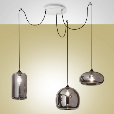 Fabas Luce - Fiona - Fiona SP - Bloe glass chandelier - Fumé - LS-FL-3496-47-126