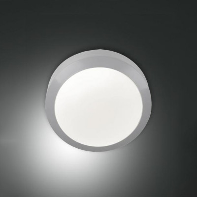 Fabas Luce - Geometric - Axel AP PL LED - Outdoor round ceiling light - Grey - LS-FL-3524-61-131 - Warm white - 3000 K -