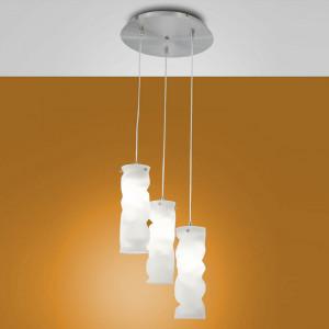 Fabas Luce - Melt - Melt SP M round - designer chandelier in glass