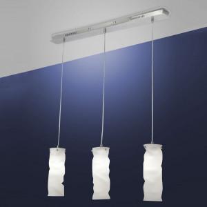 Fabas Luce - Melt - Melt SP M square - Metal and blown glass suspension