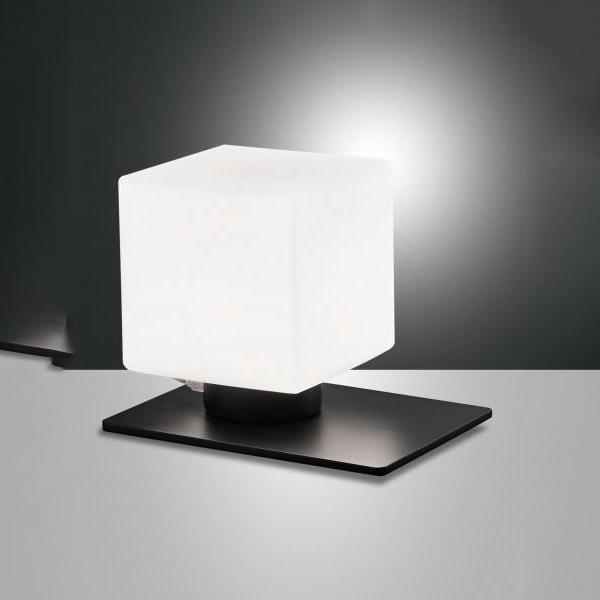 Fabas Luce Zara Tl Design Table, Black Square Base Table Lamp