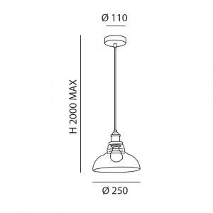 Fabas Luce - Olos - Olos SP - Suspension lamp vintage