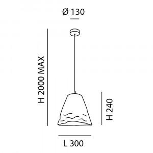 Fabas Luce - Soft - Crumple SP - Design chandelier