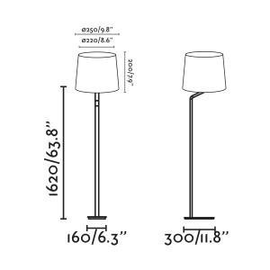 Faro - Indoor - Essential - Eterna PT - Metal floor lamp with lampshade