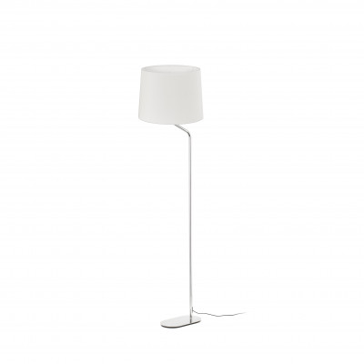 Faro - Indoor - Essential - Eterna PT - Metal floor lamp with lampshade - White - LS-FR-24009-2P0131