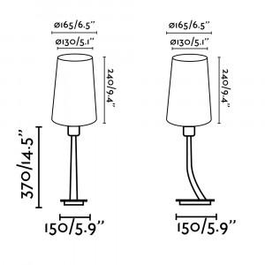 Faro - Indoor - Hotelerie - Rem-3 TL - Modern table lamp
