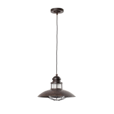Faro - Indoor - Industrial - Winch SP 1L - Pendant lamp with 1 light - Brown - LS-FR-66204