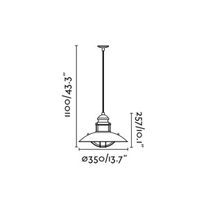 Faro - Indoor - Industrial - Winch SP 1L - Pendant lamp with 1 light