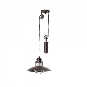 Faro - Indoor - Industrial - Winch SP 2L - Chandelier with one light and decoration