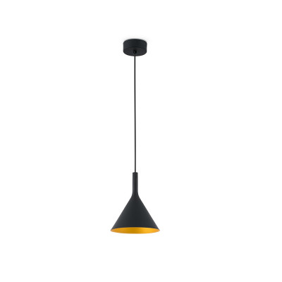 Faro - Indoor - Lise - Pam SP S LED - Small LED ceiling lamp - Black/Gold -  - Warm white - 3000 K - Diffused