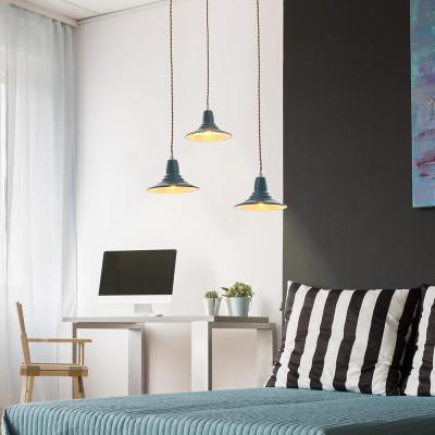 Faro - Indoor - Rustic - Ninette SP - Rustic suspension lamp made of metal