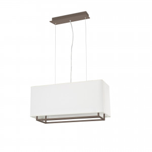 Faro - Indoor - Thana - Vesper SP L - Big chandelier with fabric shade