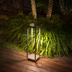 Faro - Outdoor - Alpas - Saura TE LED - Bollard with solar panel and motion sensor