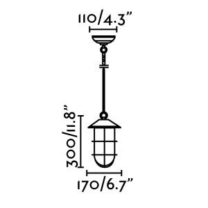 Faro - Outdoor - Estoril - Honey SP - Rustic style outdoor chandelier