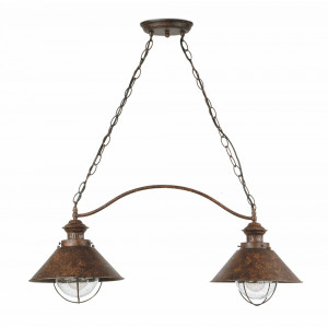 Faro - Outdoor - Nautica - Nautica 2 SP - Rustic chandelier with three lights for terrace