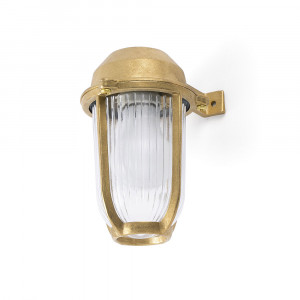 Faro - Outdoor - Ottone - Borda AP - Wall lamp made of brass for gardens and porches