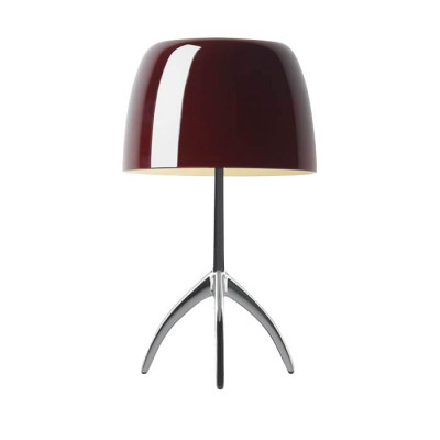 Foscarini - Lumiere - Lumiere TL L - Table lamp L with dimmer - Aluminum / cherry - LS-FO-026001R2-62-D