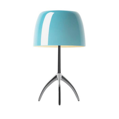 Foscarini - Lumiere - Lumiere TL L - Table lamp L with dimmer - Aluminum / Turquoise - LS-FO-026001R2-32-D