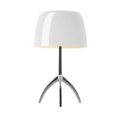Foscarini - Lumiere - Lumiere TL L - Table lamp L with dimmer - Aluminum / White - LS-FO-026001R2-11-D