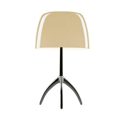 Foscarini - Lumiere - Lumiere TL L - Table lamp L with dimmer - Dark chrome / warm white - LS-FO-026011R2-12-D