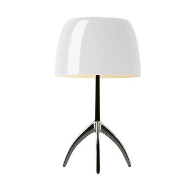 Foscarini - Lumiere - Lumiere TL L - Table lamp L with dimmer - Dark / white chrome - LS-FO-026011R2-11